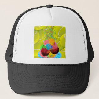 Balls glasses balloons. trucker hat