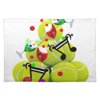 Balls music joy. placemat