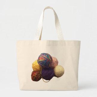 Balls of Yarn Large Tote Bag