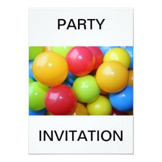 Balls  PARTY  INVITATION Card