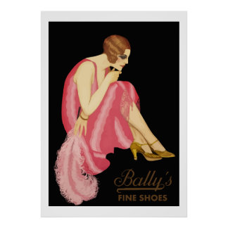 Bally's Fine Shoes Poster
