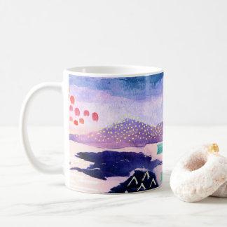 Balmaha Colourful Scottish Watercolour Cushion Coffee Mug