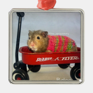 Baloo in his Red Wagon Silver-Colored Square Decoration