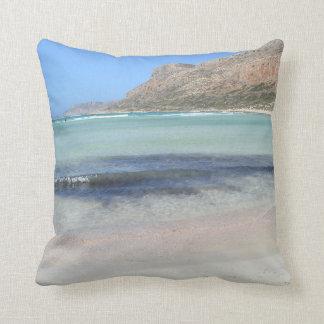 Balos Beach Paradise Throw Pillow Cushion