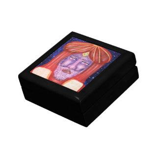 """Balthasar"" Three Kings Christmas Art Small Square Gift Box"