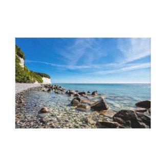 Baltic Sea coast on the island Ruegen Canvas Print