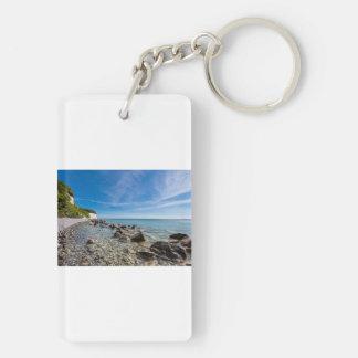 Baltic Sea coast on the island Ruegen Key Ring