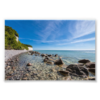 Baltic Sea coast on the island Ruegen Photo Print