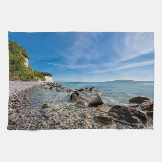 Baltic Sea coast on the island Ruegen Tea Towel
