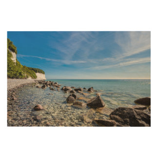 Baltic Sea coast on the island Ruegen Wood Wall Art