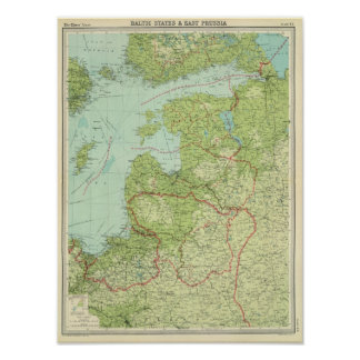 Baltic States & East Prussia Poster