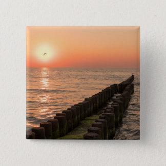 Baltic sunset 15 cm square badge