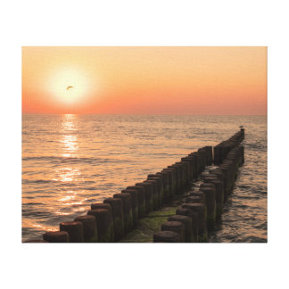 Baltic sunset canvas print