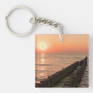 Baltic sunset key ring