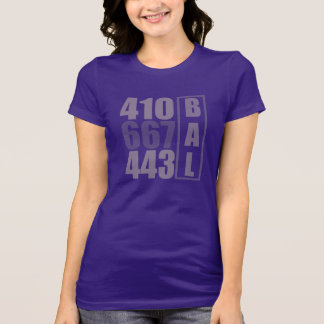 BALTIMORE 410 443 667 area code tee