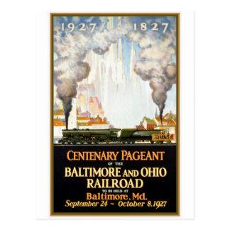 """""""Baltimore and Ohio Railroad Centenary"""" Postcard"""
