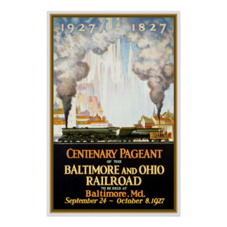 """Baltimore and Ohio Railroad"" Vintage Travel Poste Poster"