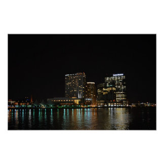 Baltimore at Night Poster