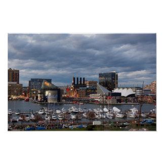 Baltimore City Skyline Poster