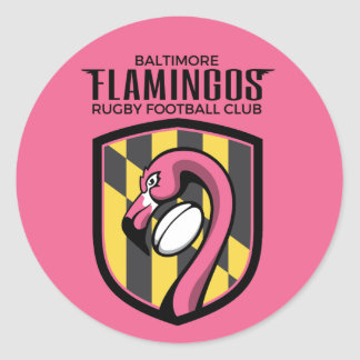 Baltimore Flamingos Sticker (pink)
