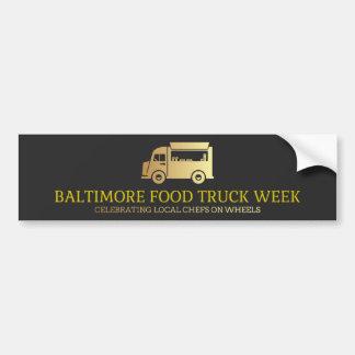 Baltimore Food Truck Week Bumper Sticker
