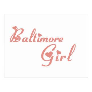 Baltimore Girl tee shirts Postcard