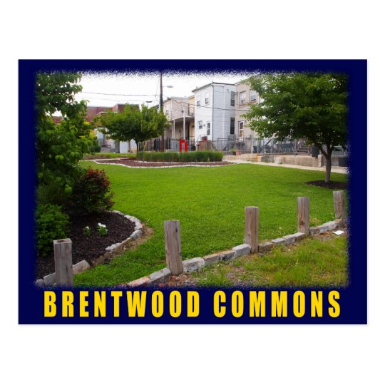 Baltimore Green Space Brentwood postcard