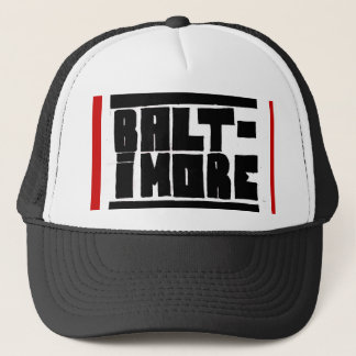 Baltimore Hat Black/White/Red