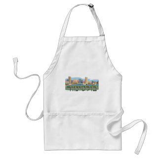 Baltimore in Hebrew Adult Apron