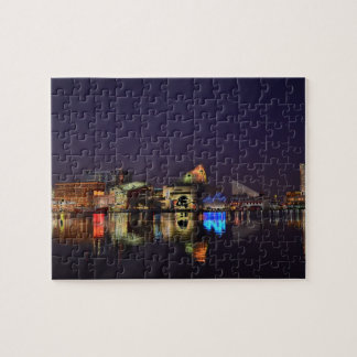 Baltimore Inner Harbor at Night Jigsaw Puzzle