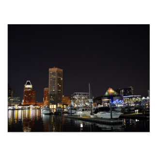 Baltimore Inner Harbor at Night Postcard