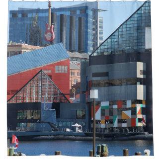 Baltimore Inner Harbor Shower Curtains