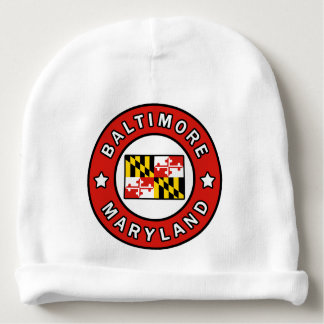 Baltimore Maryland Baby Beanie