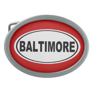 Baltimore Maryland Belt Buckles