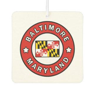 Baltimore Maryland Car Air Freshener