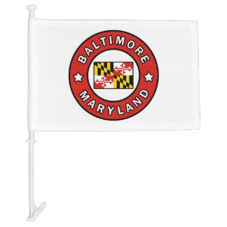 Baltimore Maryland Car Flag