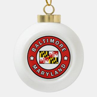 Baltimore Maryland Ceramic Ball Christmas Ornament