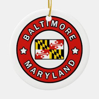 Baltimore Maryland Ceramic Ornament