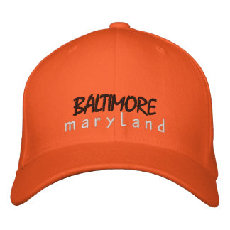 Baltimore Maryland Embroidered Hat
