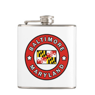 Baltimore Maryland Hip Flask