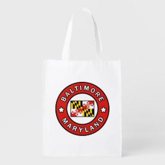 Baltimore Maryland Reusable Grocery Bag