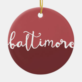 Baltimore, Maryland | Rust Circle Ombre Ceramic Ornament