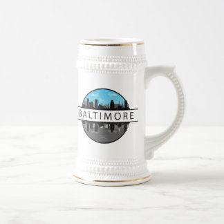 Baltimore Maryland Skyline Beer Stein