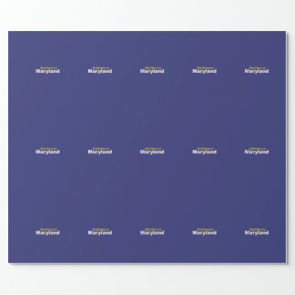 Baltimore, Maryland Wrapping Paper
