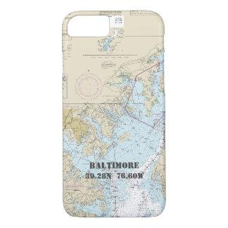 Baltimore MD Boater's Latitude Longitude Nautical iPhone 8/7 Case