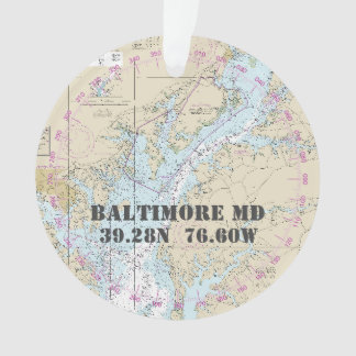 Baltimore MD Commemorative Nautical 2-Sided