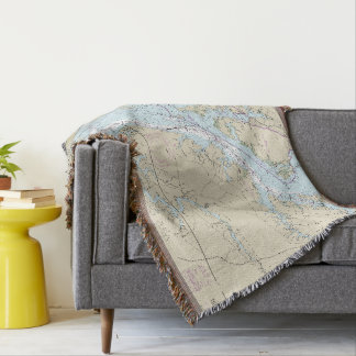 Baltimore MD Hometown Latitude Longitude Throw Blanket