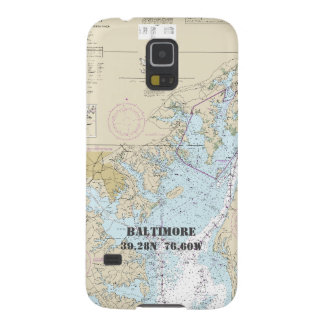 Baltimore MD Latitude Longitude Nautical Chart Galaxy S5 Case