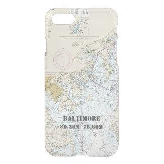Baltimore MD Nautical Chart Latitude Longitude iPhone 7 Case