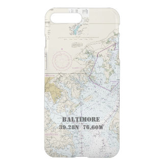 Baltimore MD Nautical Chart Latitude Longitude iPhone 7 Plus Case